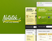 Notatek.pl Students Community Sharing Notes - Webdesign