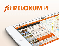 Relokum.pl - Discover your new place - Web App Design