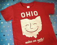 OHIO Makes Me Smile T-shirts