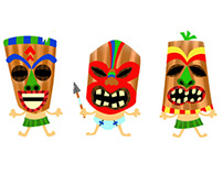 Tiki character designs 4 animation project (July 2013)