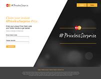 MasterCard #PricelessSurprise Concepts for Site Design