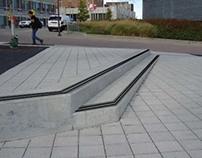 Sheakley Plaza Stairs Weather Strip Addition