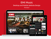 EMI Music Website Design
