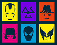 movie characters icon set