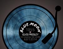 Poster Design - Elvis Presley 'Blue Moon'