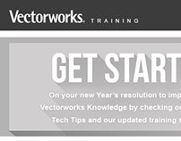 Vectorworks Training Newsletter Redesign | 2014