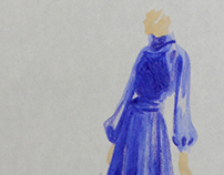 Lady in the blue dress