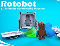Rotobot - 3D Printable Rotomolding Machine
