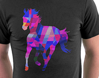 Cool Horse Vector Colorful T Shirt