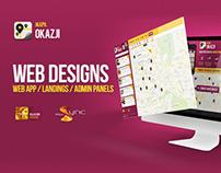 Mapa Okazji - Web Designs - Landing - Web App - Admins