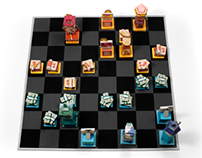 Beat The Client - Paper Toy Chess