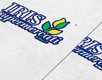 Iris Supermercati brand identity