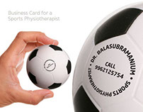 Business card for a sports physiotherapist