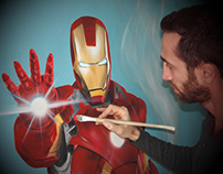 Iron Man Painting-Step By Step 380m /210m