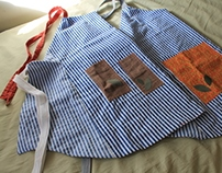 His & Hers Reversible Aprons with Pockets