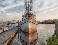 Stormy Seas: A Trawler
