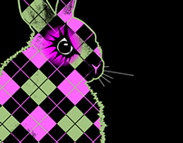 Logo Design (preliminary): Plaid Rabbit