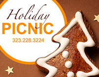 Digital Holiday Promo - PICNIC LA catering service