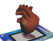 Biological Heart - Augmented Reality Card