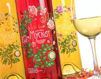 Muscat wine label
