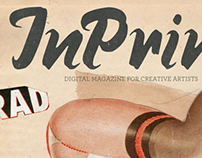 InPrint Magazine Issue 14 Cover by Aaron Beebe