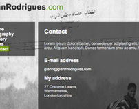 Glenn Rodrigues photography web site
