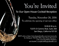 Formal Invitation to wine tasting event