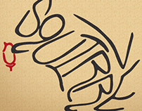 Calligram Squirrel