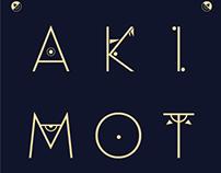 'AKIMOTO-7' Logo branding design