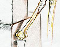 Mutant headed skeleton sketch