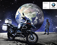 Retouching and Advert Layout for BMW Motorrad
