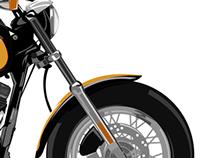 TRACING - Harley Davidson ( Media Digital Grafis Task )