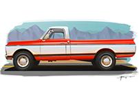 Ilustração • Chevrolet C10 1971