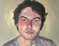 Portrait in oil paints