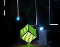 3D Cube Clock