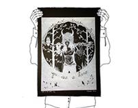 HERO IN THE WOODS (linocut print)