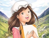 Tekad Gadis Kecil - Children Novel Illustration