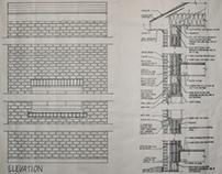 Masonry Cavity Wall Construction Drawing