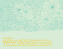 Wavves Screened Poster