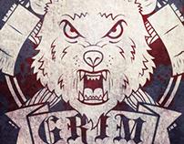 The Brothers Grim Men's Roller Derby Logo
