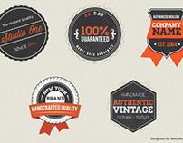 Retro & Vintage Badges