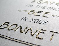 Embroidered Song Lyrics