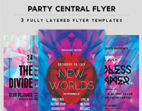 Party Central Flyer 3 Flyer Pack