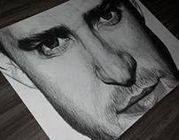 Justin Timberlake Biro Drawing