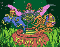 Stage banner & cover art for Yawn Hic