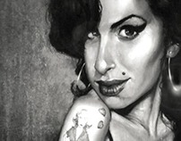 Amy Winehouse Caricature  by Lewis Gilliard