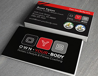 Own Your Body Business Card and Stationery
