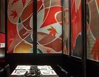 Graphic design of Japanese Restaurant in Shanghai
