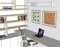 Sala de Estar + Home Office