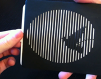 Animated optical illusion card